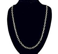 collana d'argento classica catena in acciaio inox (1 pc)