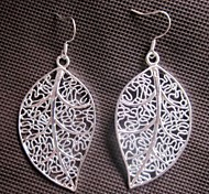 Women's European And American Fashion Classic Silver Plated Copper Ear Hook Earrings
