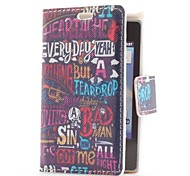 Graffiti Style Leather Case with Card Slot and Stand for LG E400/Optimus L3