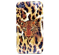 Yellow Leopard Head Pattern Hard Case for iPhone 4/4S