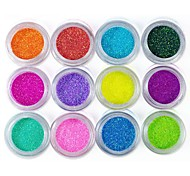 12-color Glitter Foil Powder Nail Art Decorations(Random Color)