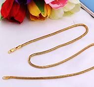 New Fashion Hot venda de Unisex ouro 18k Concise Colar XL0017