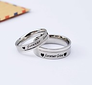 Korean Style Popular Forever Love Titanium Steel Couple Rings