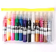 12 PCS Nail Art 3D Art Pen Polish Kits