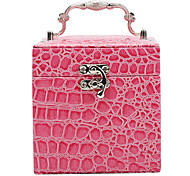 1 Pcs Korea Crocodile Embossed Leather European Princess Multilayer Jewelry Boxes Cosmetic Box