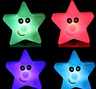 3pcs Star Light Colorful Five-Star LED  Night Light Small Lantern