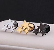 Серьги-гвоздики Нержавеющая сталь В форме звезды Бижутерия Свадьба Для вечеринок Повседневные Спорт