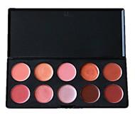 professionale 10 colori di trucco plaette lip gloss cosmetici set 01 #