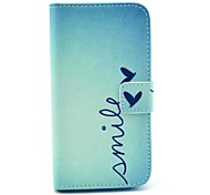 Smile Butterfly Design PU Leather Full Body Case with Stand for Samsung Galaxy S4 I9500