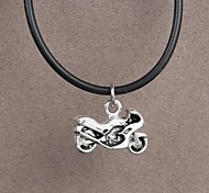 Fashion Stainless Steel Motorcycle Pendant Necklace