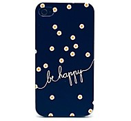 Daisies Be Happy Pattern Hard Case for iPhone 4/4S
