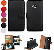 Твердые Pattern Цвет PU кожаный чехол всего тела с подставкой и слот для карт HTC One М7 (разных цветов)
