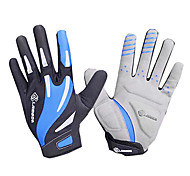 LAMBDA Blue Breathable Mesh Anti-skid Full Finger Cycling Gloves
