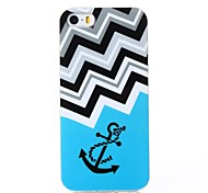 Bevelled Anchor Pattern Silica Gel Soft Case for iPhone 5/5S