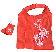 Eco-Friendly Snowflower Pattern Folding Shopping Bag(Random Color)