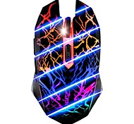 7 Colore respirazione chiaro 3200DPI 6 Button USB Optical Wired Gaming Mouse per PC Gamer