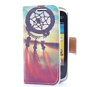 Dream Catcher y Sunset Style Funda de cuero con ranura para tarjetas y soporte para Samsung Galaxy Y Duos S6102