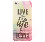 Live the Life you Love Design Soft Case for iPhone 4/4S