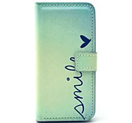 Smile Heart PU Leather Case with Card Holder for Samsung Galaxy S4 Mini I9190