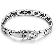 gallstone preto pulseira anti-fadiga botão de titânio aço cuidados de saúde com homens e mulheres