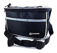 KINGSIR 420D Fabric Polyester Black Bicycle Front Tube Frame Bag