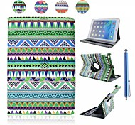National Wind Patterns PU Leather Full Body Case with Stand and Capacitance Pen for iPad Air (Assorted Colors)