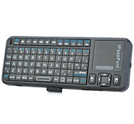 iPazzPort KP-810-10A Mini Wireless 2.4GHz Fly Air Mouse 82-Key Keyboard - Black