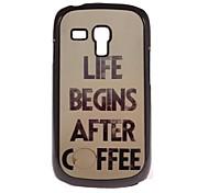 Coffee Design Aluminium Hard Case for Samsung Galaxy S3 mini I8190