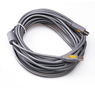Gray USB2.0 Printer Cable 10M 33FT