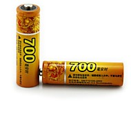 HAOMBA  1.2V 700mAh Rechargeable AA NiMH Battery 2PCS