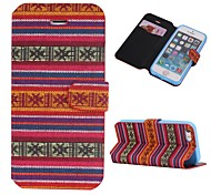 Cotton Fabrics Full Body Case with Stand and Card Slot for iphone5/5S(Assorted Colors)