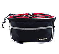 KINGSIR 420D Fabric Polyester Red Bicycle Front Tube Frame Bag