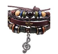 Unisex's New Note Three Stars Braid Bracelet