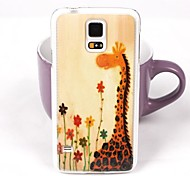Lovely Giraffe Pattern PC Back Case for Samsung Galaxy Note 4