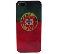 Retro Português Padrão bandeira de volta caso PC para o iPhone 5