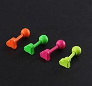 Lureme®316L Surgical Titanium Steel Candy Color Candy Color Single Stud Earrings (Random Color)