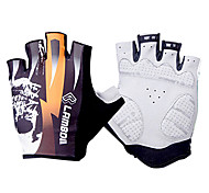 LAMBDA Orange Polyester Anti-skid Half Finger Cycling Gloves