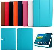 Para Funda Samsung Galaxy con Soporte / Flip / Origami Funda Cuerpo Entero Funda Un Color Cuero Sintético Samsung Tab S 10.5