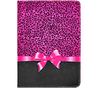 Leopard Printing Bow Pattern PU Leather Full Body Case with Stand for iPad Air