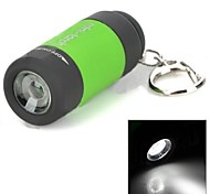 TD-1 USB Rechargeable   Rotary Switch Without Zooming Lamp Beads 5mm LED Flashlight (25LM, 16340) Green, Red And Yellow