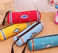 Indian Customs Canvas Cylinder Pen Bags Cloth Art Stationery Bags