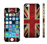 AIKUSU® UK Flag Design Vinyl Skin Decal for iPhone 5/5S KSCT0001
