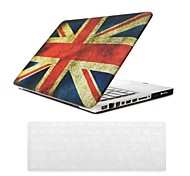 "Case for Macbook Pro 13.3""/15.4"" Flag Plastic Material British Flag Design PC Hard Case with Keyboard Cover Skin"
