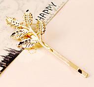 Vingtage horquilla de oro En 5 diseño de las hojas