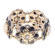 Vintage Resin Stone Flowers Elastic Bracelet