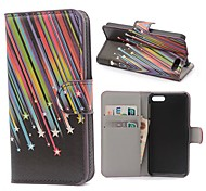 Meteor Shower Pattern PU Leather Case with Magnetic Snap and Card Slot for Kindle Fire Phone