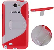 For Samsung Galaxy Note with Stand Case Back Cover Case Solid Color PC Samsung Note 2