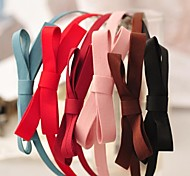 Minimalist Fashion Hair Accessories Ribbon Bow Headbands(5 Colors)
