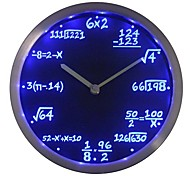 dom nc0461 matemática aula de álgebra Fórmula Professor Matemática Neon LED Relógio de parede
