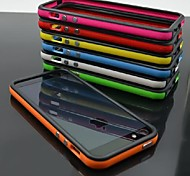 caso df doble TPU marco de color suave para el iphone 4 / 4s (colores surtidos)